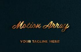 10秒簡單耀眼金色文字標題片頭aep格式AE模板下載