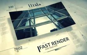简洁高科技线条现代商业新闻排版宣传介绍aep格式AE模板下载
