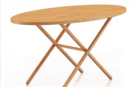 纯木折叠便捷式多功能物品陈列桌家居饰品C4D模型