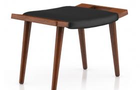 传统北欧风格人性化设计简约实用型牛皮座椅C4D模型