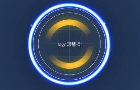 三维空间闪烁光圈快速旋转LOGO标志展示科技开场edius模板