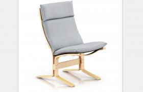 現代簡約灰色風格高雅布藝創新設計兒童座椅C4D模型展示