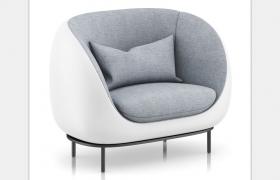 室內客廳家居飾品C4D單人休閑沙發座椅模型素材下載