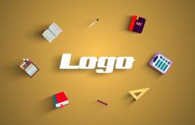 多方位学习文具装饰点缀幼儿补习教育logo设计图文展示PR模板