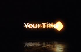炫酷雷電火焰噴射推移特效Title標題展示Mogrt動態震撼文字模板