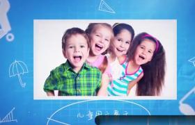 儿童生活学习成长动态图文展示记录视频PR模板
