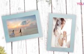唯美温馨的婚礼相框照片展示婚礼开场包装PR视频模板
