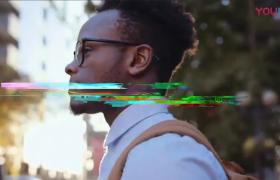 信号干扰效果影视栏目宣传片片头PR视频模板