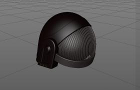 反搖滾punk風格愚蠢的朋克頭盔騎行護具C4D模型