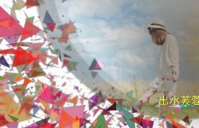 三角彩色紙片修飾時尚藝術化展示edius模板