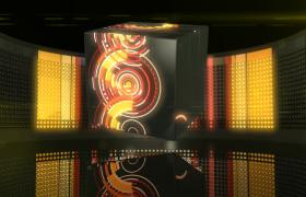 黑色小方塊拼湊成大正方體彩色科技光圈旋轉EDIUS6.54模板