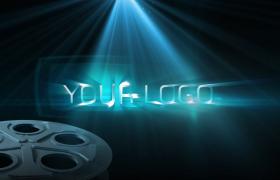 三色燈光投射光影絢麗移動LOGO標志片頭開場edius模板