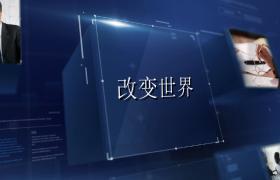 抽象信息浮现3D立方块呈现企业科技宣传edius6.54模板