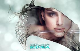 Edius 圖片伴隨著各角度潑灑的水體出現影視包裝ezp格式下載