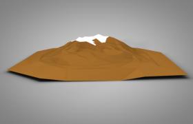 C4D卡通动画制作低面军事山地场景模型(全景灯光效果)