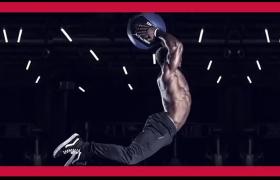 醒目红色大标题健身房体育运动活力图文排版宣传AE模板