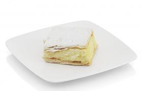平板型奶油夹心泡芙西餐厅甜品活动推广美食宣传C4D模型展示