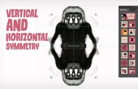 PS插件_自定義實用物體人物場景鏡像對稱繪圖插件AD Brutus Symmetry v1.7破解版下載