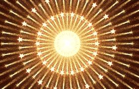 五星粒子中央圆环式扩散年会晚会开场LED视频素材