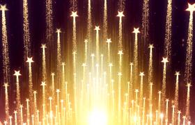 星星带领粒子箭头状上升企业年会开场10s视频素材
