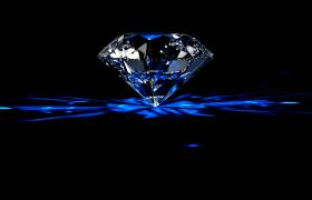 三维魔幻空间透亮钻石璀璨旋转13s特效视频素材