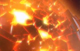 星球破裂强烈光辉透射年会开场背景HD视频素材