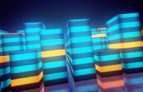 彩色音量条节拍性起伏音乐舞台背景MP4视频素材