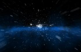 三度深邃夜空粒子空间快速冲刺mov特效视频素材