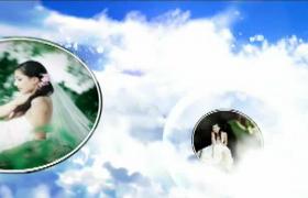 天空之城婚礼主题镜子照片播放预告AE模板