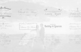 二十五款花紋優雅生長入場出場動畫婚禮標題書簽設計模板AE源文件