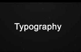 重踏節奏純標題文字快閃欄目節目開場片頭視頻AE模板