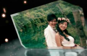 震撼粒子光斑婚礼玻璃碎片爱情影像字幕预告启动AE模板下载