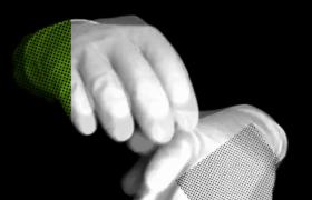 炫酷手势玩转透明彩色时尚遮罩HD特效视频背景