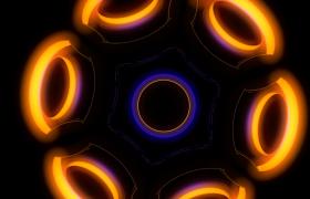 光效圆环扩散收缩旋转无缝循环动态VJ背景视频素材