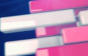 3D光滑彩条各角度并排刷新精彩转场MOV特效视频