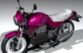 水平对置式四缸发动机高性能旗舰版宝马k100大型机车C4D模型展示