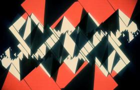 深色几何图案错乱排列拉开动画特效HD视频素材