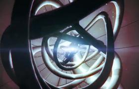 刺眼光点3D金属线团扭曲缠绕震撼特效视频素材参考