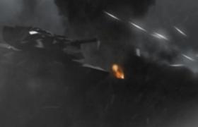 威力炮弹空中横飞机甲大战MOV游戏特效视频素材