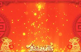 中国风金粒子光斑雨喜庆春节金鼠送福视频背景素材
