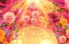 婚禮背景浪漫花卉夢幻拱門開場視頻