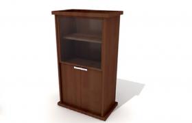 棕色原木復古經典家居臥室陳列柜Cinema4d模型(含貼圖)