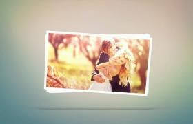5秒婚礼照片甜蜜片头快闪简约婚庆开场展示AE模板