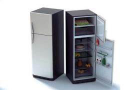 家用大型电器五挡自控调节智能一体化食物保鲜冰箱C4D模型