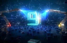 亮閃倒計時科技科幻空間胳膊肘制造開場AE模板