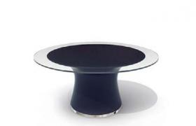 圓形透明鋼化玻璃家居物品擺件陳設桌C4D模型