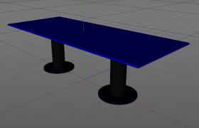 娛樂場所酒吧KTV室內裝修設計藍色酒臺C4D模型渲染工程