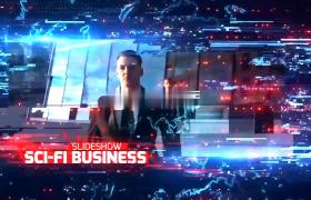 商務內容介紹片頭震撼科技信息變化動態跳動效果AE模板