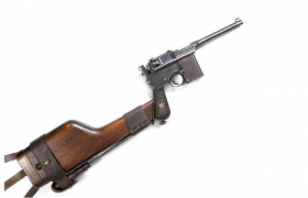 汉阳兵工厂装配战术枪托的驳壳枪C4D枪械模型展览(含材质贴图)