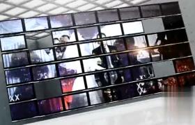 屏幕墻婚禮照片開場片頭喜結良緣婚慶宣傳AE模板